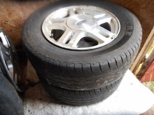 winter 2 tires on rims 235/60/16 extra rim for 10