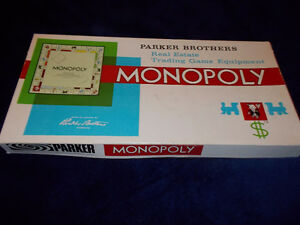 1961 Monopoly Board Game-vintage