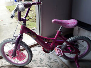 "Girl Bike (Princess 12"") with training wheel"