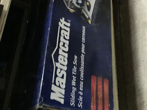Mastercraft  sliding wet tile saw