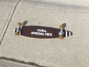 Longboard with Gull Wing Trucks and 78a wheels