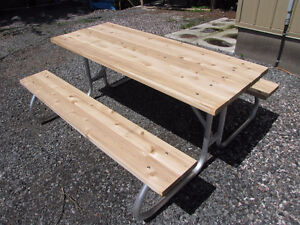 New aluminum picnic tables for sale good for life$389.00