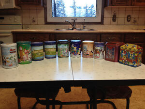 10 old collector tins