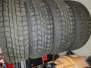 Winter tires and rims from a 2013 Toyota Corolla