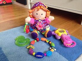 Lamaze Play and Grow My Friend Emily Doll, Nuby teether, Vtech star rattle