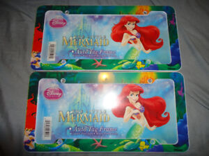 2 LITTLE MERMAID LICENSE PLATE COVERS