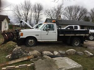 1991 ford f350 dump truck with western plow