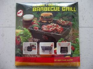 BARBECUE PORTATIF PLIABLE / MINI FOLDABLE GRILL BARBECUE