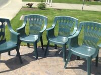 Lawn Chairs - 4 - $12.00