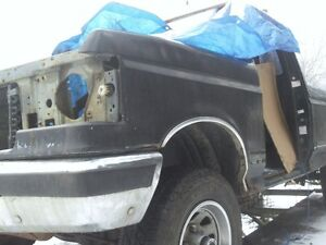 1991 f150 xlt/lariat hood/fenders/black(with chrome wheel trim) Prince George British Columbia image 1