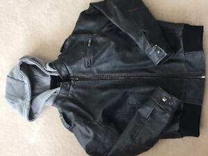 Boys pleather coat