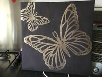 Free butterfly canvas