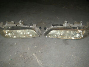 94 01 ACURA INTEGRA DC2 B18C CHROME HOUSING HEAD LIGHTS JDM INTE