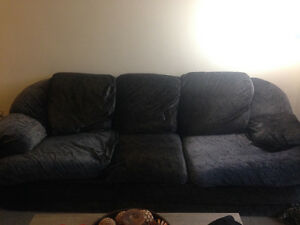 Black Couch & Love Seat