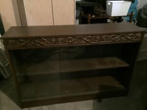 Floor glass cabinet with mirror