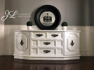 Solid wood shabby chic cabinet