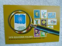 1976-UNITED NATIONS-Souvenir Folder With Stamps.