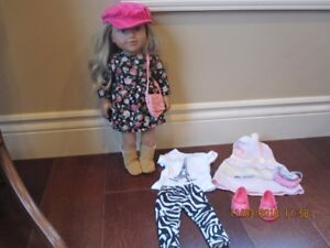 "18""doll and two outfits"