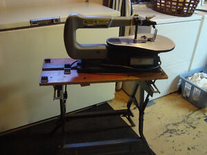 For Sale - Scroll Saw + Assorted Blades + Patterns + Workmate