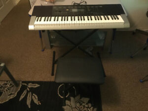 Casio LK-265 Piano Style Electric Keyboard with Stand And Bench