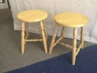 Pair of low wooden stools £10 the pair