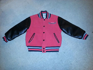 AWESOME KIDS INCREDIBLES WOOL AND LEATHER JACKET SIZE 3T-4T.....