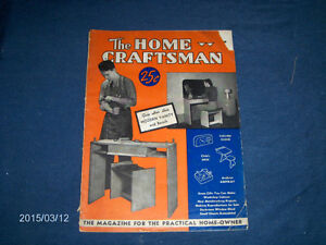 THE HOME CRAFTSMAN-11/1939-VINTAGE BACK ISSUE-CLOCK-ASHTRAY+