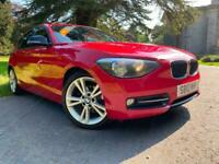 CLEAN EXAMPLE BMW 1 SERIES 116D SPORT 5DR FULL BLACK LEATHER 2 KEYS