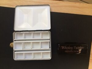 Whiskey Painter Flask Palette - watercolour