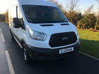 2014 14 FORD TRANSIT 350 LWB 125 BHP EURO 5 L3 H2 1 COMPANY OWNER 23000 MILES