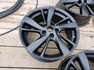 17' rims powder coated flat black