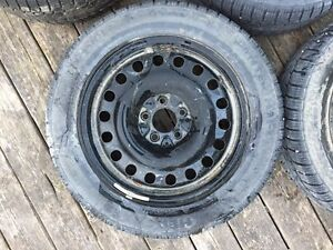 4 winter tires on rims Kitchener / Waterloo Kitchener Area image 2