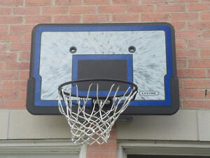 Mountable basketball net with bracket and screws