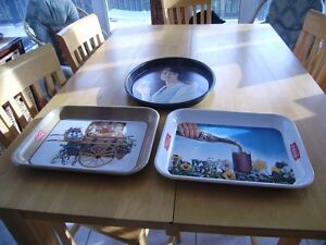 VINTAGE COCA COLA TRAYS, TINS AND GLASSES Windsor Region Ontario image 1