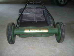 Lee Valley Reel Mower w/grass catcher - manual push mower