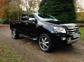 STUNNING 2014 BLACK FORD RANGER 3.2TDCI 200ps LIMITED DOUBLE CAB PICKUP MANUAL
