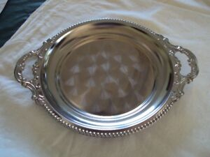 Round silver dishes