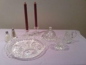 Vaisselles en cristal d'arques