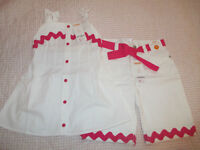 *LIKE NEW/With Tags* Gymboree Sz 7 Denim Shorts & Swing Top
