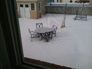 48 inch Dia. Cast Metal patio table and 4 chairs