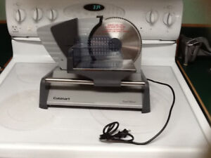 Cuisinart CFS-155C Stainless Steel Professional Food Slicer.