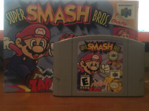 Selling super smash brothers 64 with box and manual