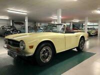 1969 Triumph TR6 150 BHP PI. Jasmine Yellow with Black Ambla upholstery