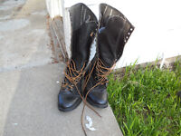 lace up motorcycle boots