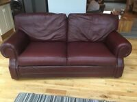 Leather 3 seater Thomas Lloyd sofa