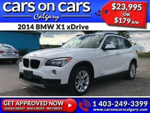 2014 BMW X1 xDrive w/Leather, PanoRoof, BlueTooth $179B/W INSTAN