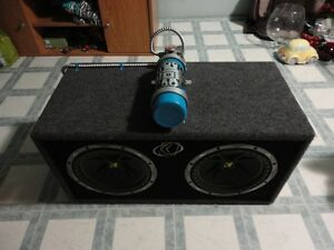 KICKER SUBS , EXILE AMP & CUSTOM FIRE EXTINGUISHER Peterborough Peterborough Area image 1