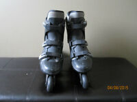 Mens Black Typhoon Roller Blades Size 9