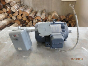 Leeson 5-hp 3 phase motor and switch