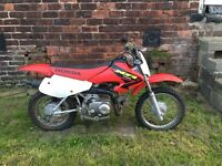 Honda XR70R kids motor cross bike